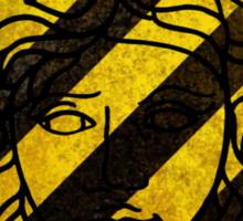 Black and yellow Versace Sticker