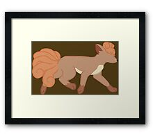 pokemon vulpix ninetales fox anime shirt Framed Print