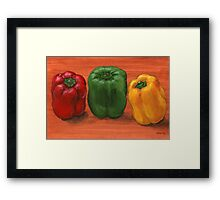 Bell Pepper Trio  Framed Print