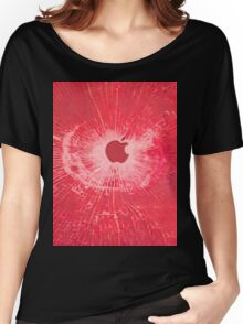 RED BULLET HOLE SMARTPHONE CASE (Graffiti) Women's Relaxed Fit T-Shirt
