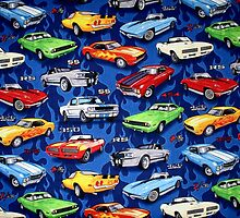 Auto Sports Muscle Cars Pattern by HavenDesign