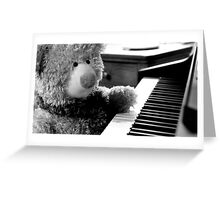 Ted the musical teddy bear Greeting Card
