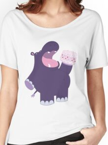 A very hungry hippo Women's Relaxed Fit T-Shirt