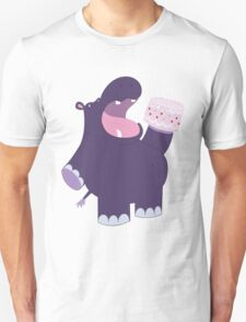 A very hungry hippo Unisex T-Shirt