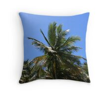 trancoso's cocconut-tree Throw Pillow