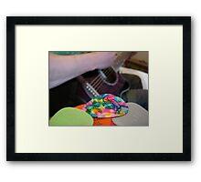 Plectrum Mix Framed Print
