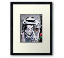 Mystery Lady............ Framed Print