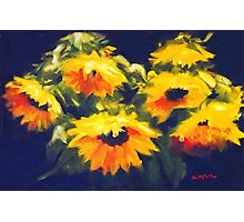 Sunflowers - oil painting on linen Photographic Print