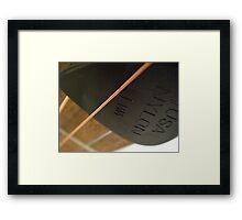 Solo Plectrum  Framed Print