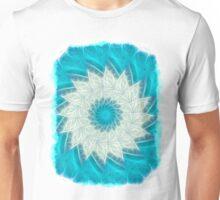 Cyan Glow Kaleidoscope 10 Unisex T-Shirt