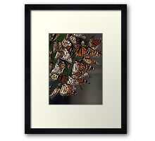 Migrating Butterflies Framed Print