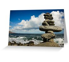 Land Art on the Beach Greeting Card