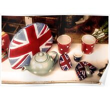 A Very British Tea Party Poster