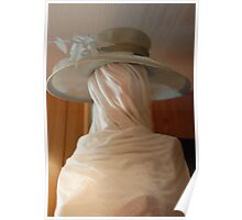 hat on wrapped model Poster