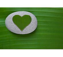 Green Hearted Photographic Print