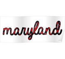 Maryland Tie Dye Poster