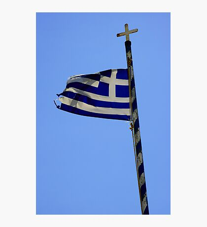 Greek Flag Photographic Print