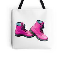 Hot Pink Safety Boots Tote Bag