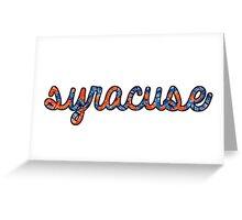 Syracuse Tie Dye Greeting Card