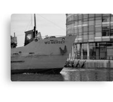 New BBC Building and Dredger Canvas Print