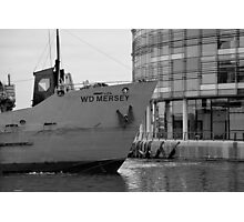 New BBC Building and Dredger Photographic Print