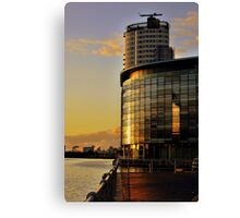 New BBC Building at Salford Quays Canvas Print