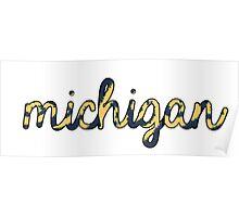Michigan Tie Dye Poster