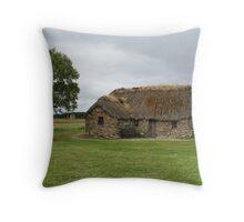 Old Leanach Cottage, Culloden Battlefield Throw Pillow