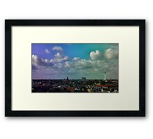 Crazy Rainbow Framed Print
