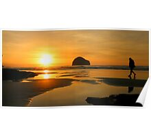 Cornwall: Strolling in the Sunset Poster