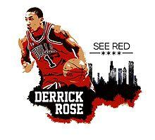 Derrick Rose - See Red by ervinderclan