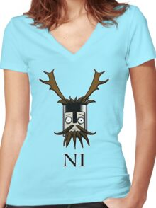 Knight of Ni  Women's Fitted V-Neck T-Shirt