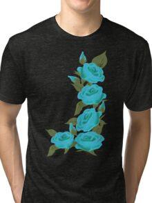 Blue Roses  Retro Revival Clothing Tri-blend T-Shirt