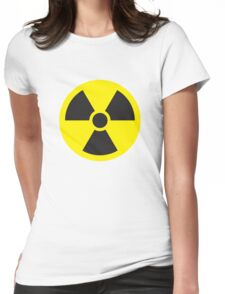 Nuclear Symbol Womens Fitted T-Shirt