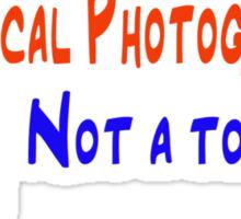 I am a local photographer (light grey graphic) Sticker