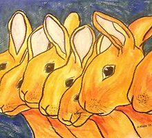 Seven Little Rabbits by Alexandra Felgate