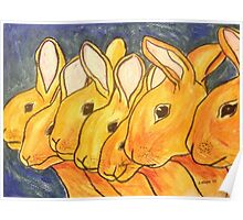 Seven Little Rabbits Poster
