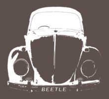 VW Beetle - White Kids Clothes
