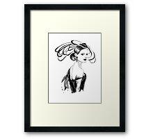 Fashion woman Framed Print