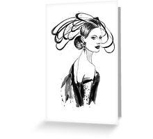 Fashion woman Greeting Card