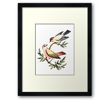 Bird lovers Framed Print