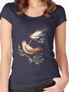 Bird lovers Women's Fitted Scoop T-Shirt
