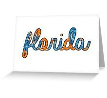 Florida Tie Dye Greeting Card