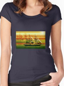 To the Sea in Ships Women's Fitted Scoop T-Shirt