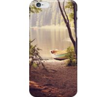 Blissful forest landscape iPhone Case/Skin