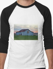 Christmas Barn Pattern Men's Baseball ¾ T-Shirt