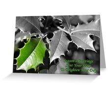 Season's Greetings To Brighten Your Day Greeting Card