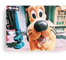 Disney's Pluto In Toontown Metal Print