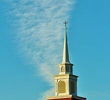 Steeple And Clouds by Cynthia48