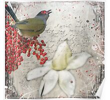 Winter's Fig Bird Poster